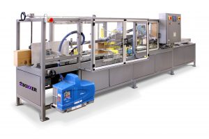 Case taping machine - box system
