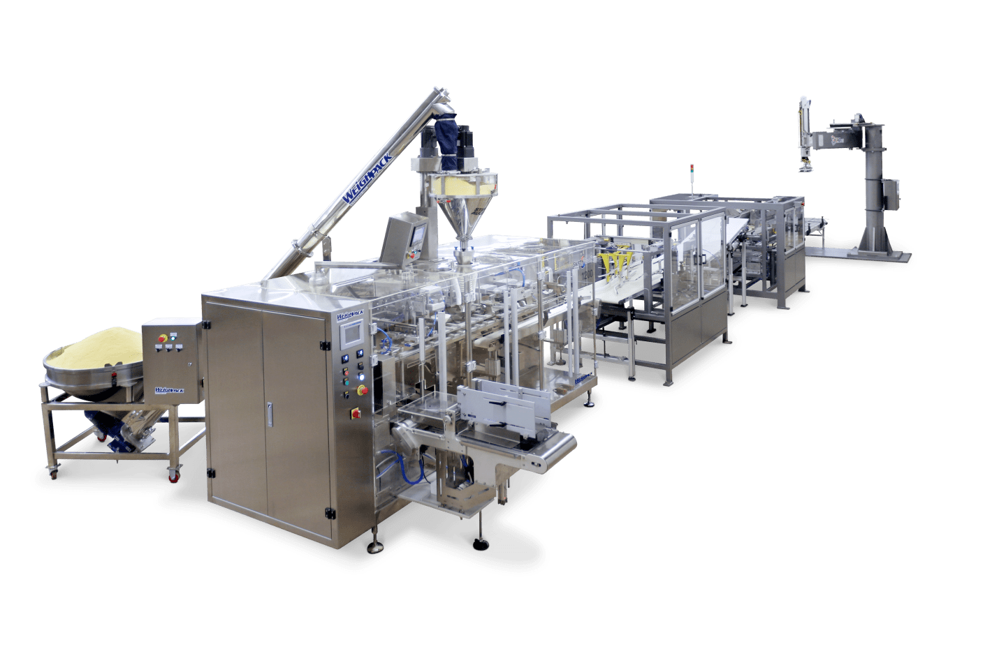Full automated line of packaging machines