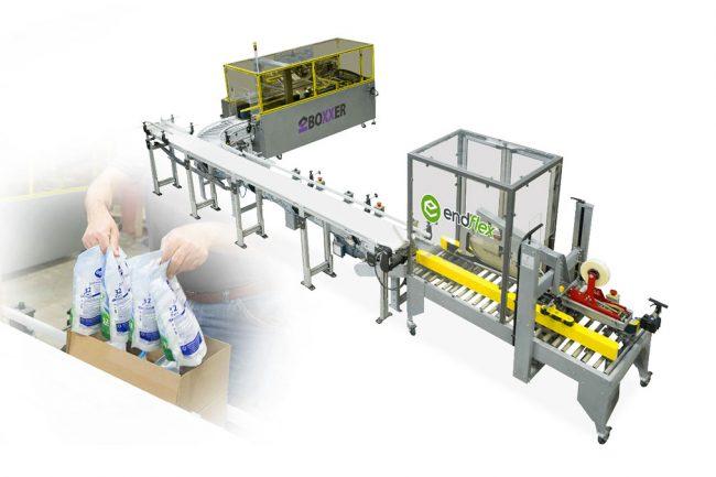 semi-automatic case packing machine