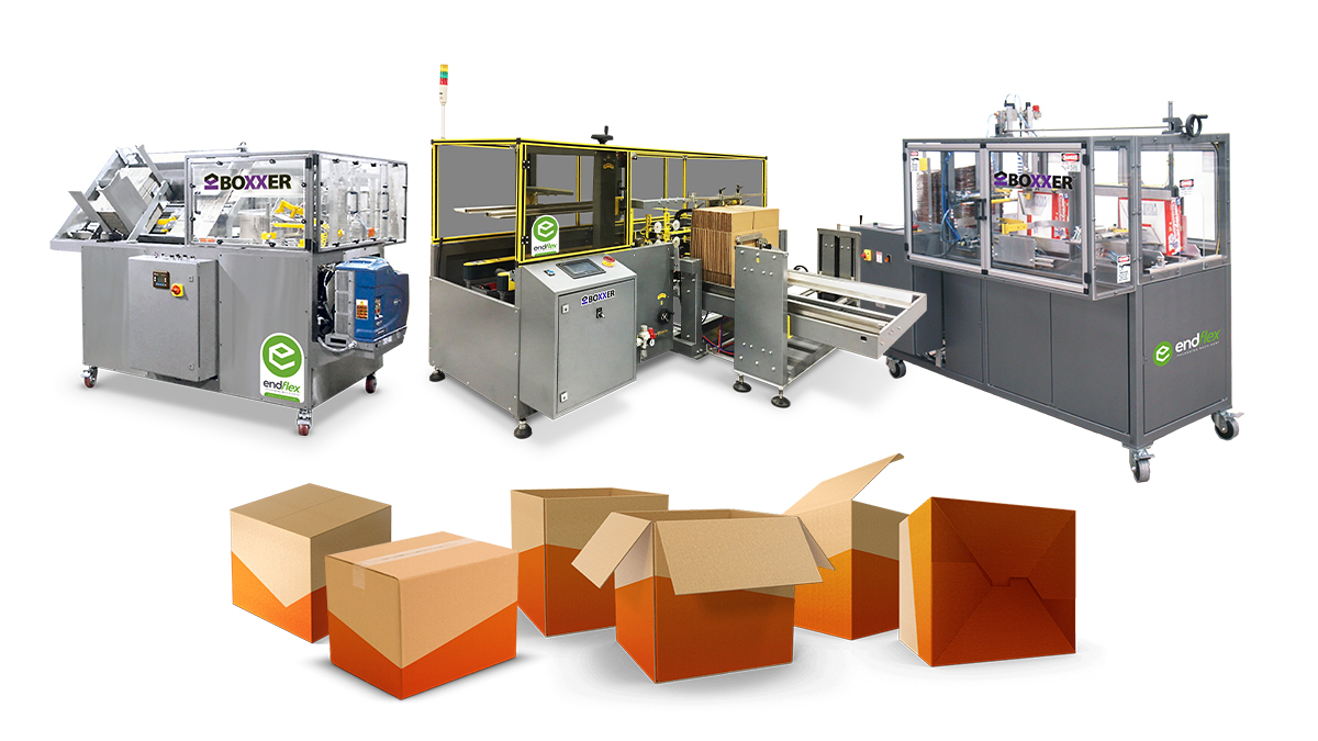 Tape and glue case erecting machines